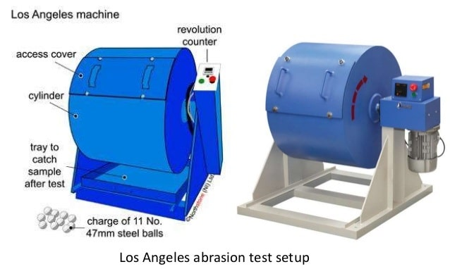 los angeles abrasion test To determine los angeles abrasion value of rock using loss angeles abrasion testing apparatus.