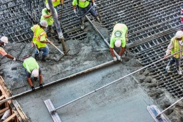 Reinforced Concrete Slab Casting Work