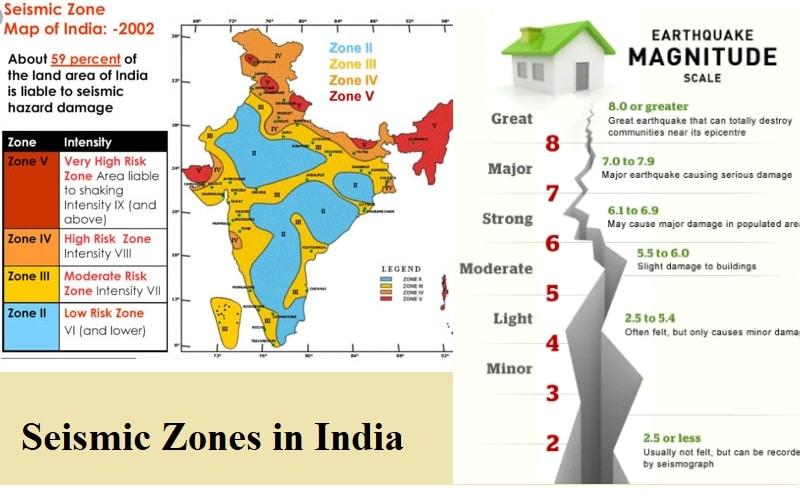 recent seismic map of india Seismic Zones In India The Constructor recent seismic map of india