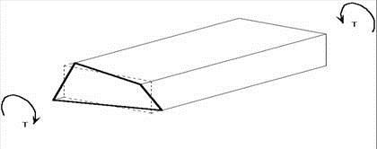Warping of rectangular box subjected to pure torsion.