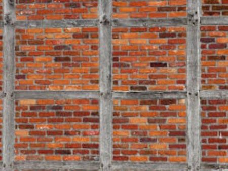 Brick nogging partition wall