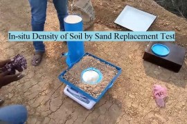 Determination of In-situ Soil Dry Density by Sand Replacement Method