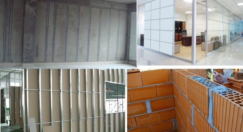 Types of Partition Walls for Homes and Offices