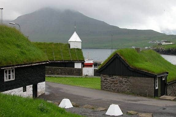 Green roof in Farore Islands
