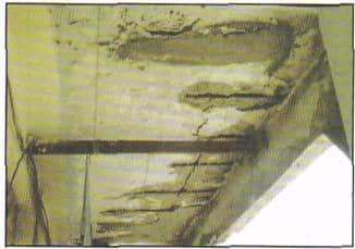 Corrosion of steel in a canopy