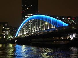 The bridge on the Sumida River in Tokyo