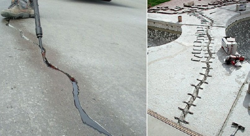 Routing and Sealing of Cracks in Concrete