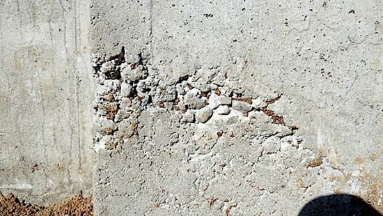 Honeycombs in Concrete