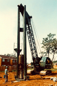 Driving of Pile Casing
