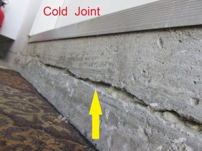 Cold joint in concrete and methods of treatment for Pouring concrete in the cold