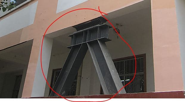 Metallic Yielding Damper Installed in Multistory Building