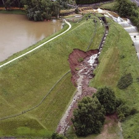 Erosion Overflow of Spillway