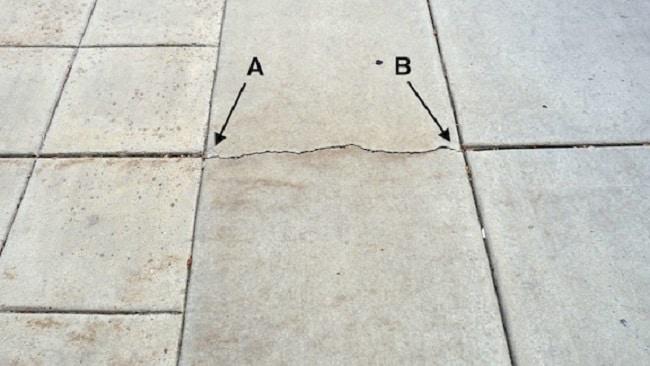 Plastic Settlement Cracks In Concrete Appearance