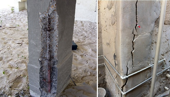 Methods of concrete column repair for cracks and damages for Diy reinforced concrete