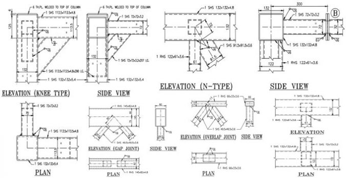 Typical Joint Detailing Of Steel Hollow Sections Types Of Joints