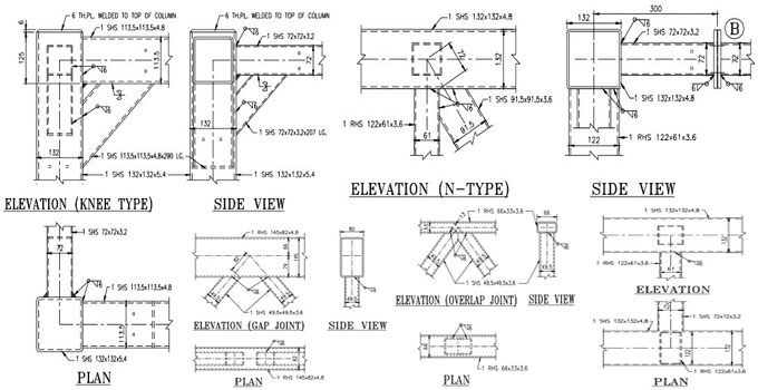 Typical Joint Detailing Of Steel Hollow Sections Types Of