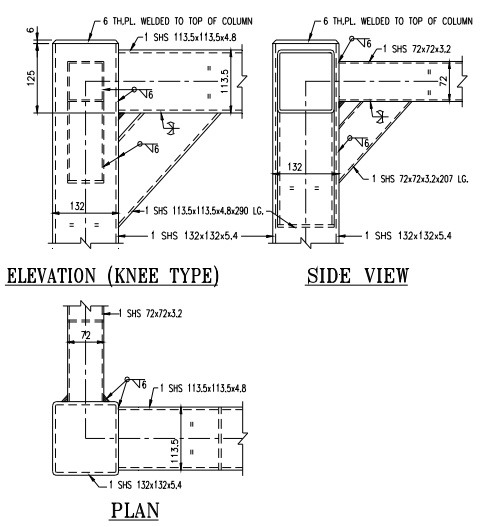 Typical joint detailing of steel hollow sections types