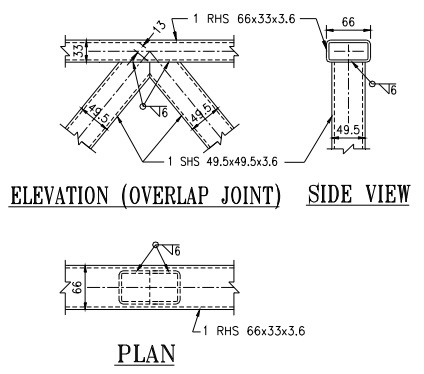 Overlap Joint Between Hollow Sections