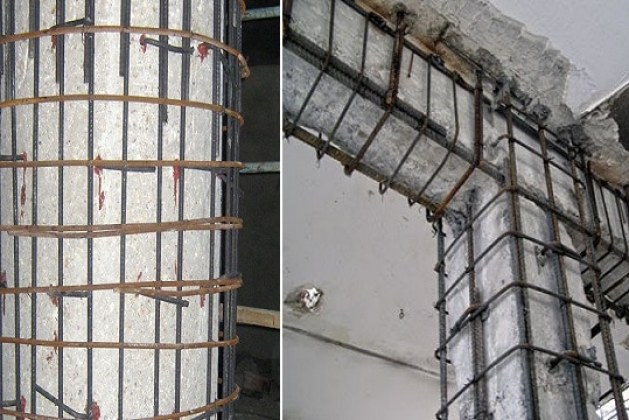 Jacketing and Collars for Concrete Column Beam Strengthening