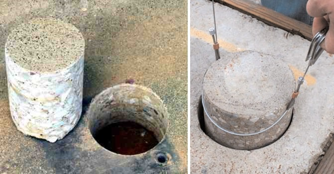 Testing of Concrete Cores for Strength