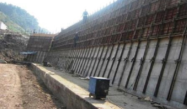 Types of Reinforced Concrete Retaining Wall and Their Parts