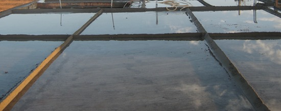 Curing of Concrete Roof Slab by Ponding