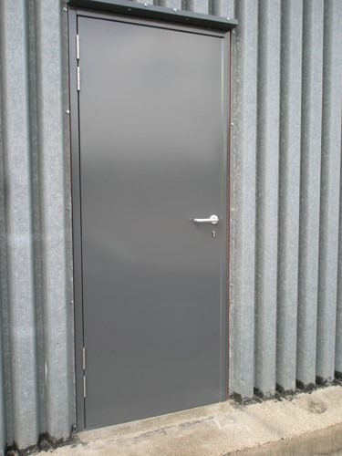 Mild steel sheet doors