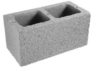 Types of concrete blocks or concrete masonry units in for Cement foam blocks