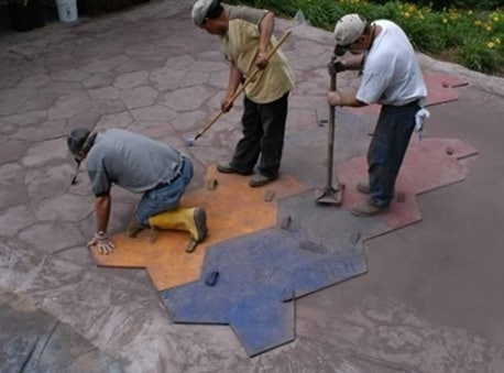 Stamping of Concrete