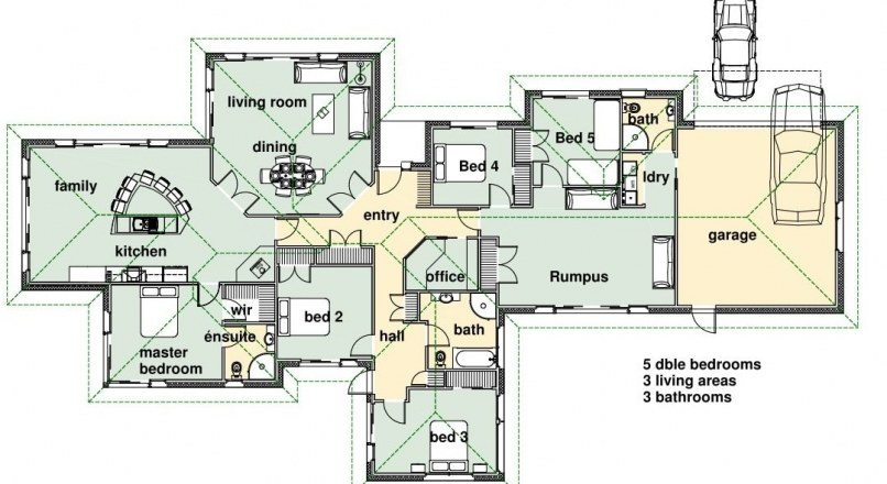 Standard Size of Rooms in Residential Building and their Locations