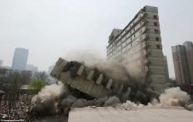 Explosive Demolition Method for Building Structures