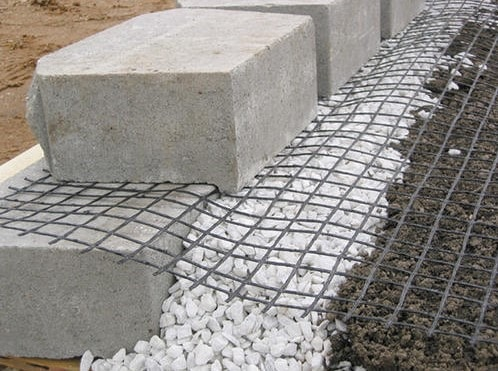 Geogrid Segmental Retaining Wall