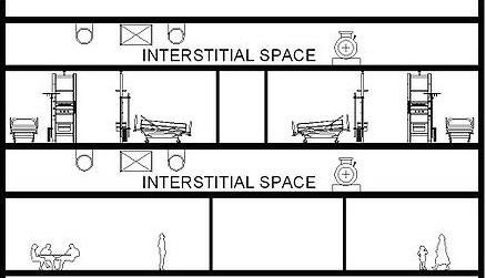 Interstitial Ceiling Arrangement