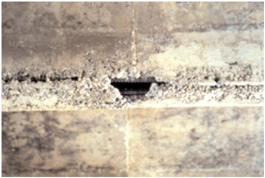 Improper Compaction of Concrete results to Honeycomb and Rock Pockets