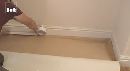 Tape for Vinyl Sheet Flooring at Edges