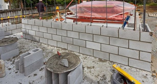 Rcc Wall Construction : Properties of materials for reinforced concrete masonry walls