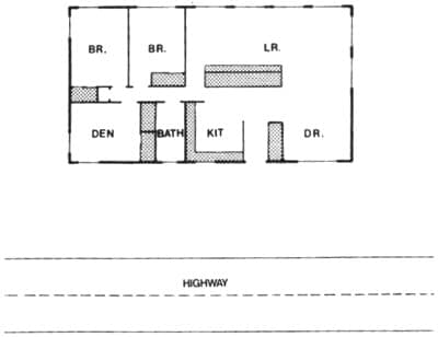 Room Arrangement in Buildings for Noise Control