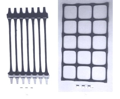 Uniaxial and Biaxial Geogrids