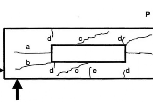 Types of Cracks in Prestressed Concrete Beams with Openings and its Control
