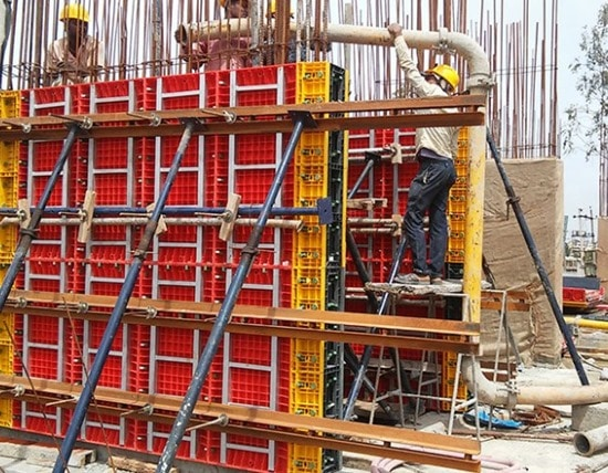 Plastic Formworks For Concrete Construction Applications