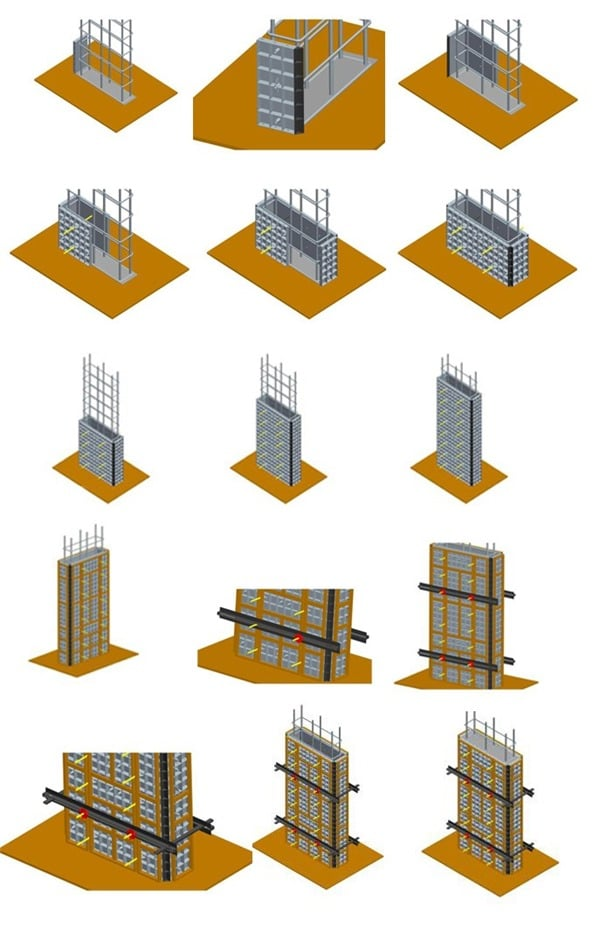 Installation of Plastic Formwork for Column