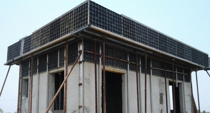 Plastic Formwork for Slab Construction