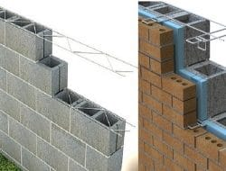 Masonry Reinforcement and Accessory Metals for Masonry Wall Construction