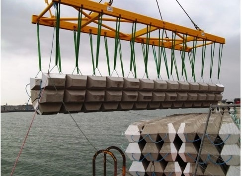 Mattresses Constructed from Concrete Used to Protect Pipelines Underwater