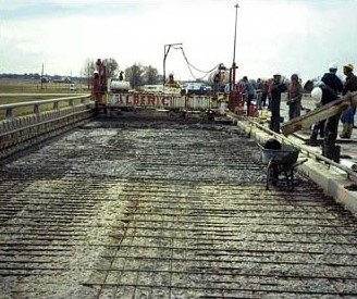 Deteriorated Concrete from Bridge Deck is Removed and Surface is Prepared for Placing Overlay Concrete