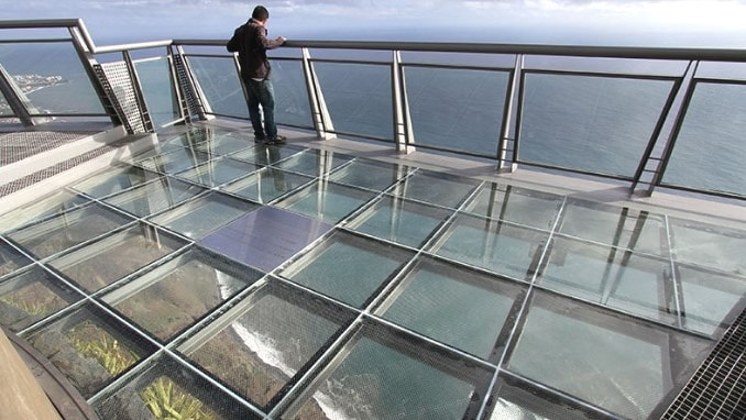 Glass Flooring Material in Buildings