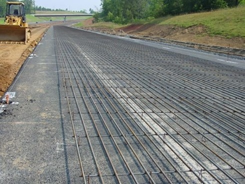 Reinforcement in Continuous Reinforced Concrete Pavement