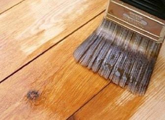Brushing of Timber Preservatives