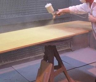 Spraying of Timber Preservatives