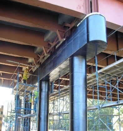 Bride Column Casing using Fiber Reinforced Plastic Composite